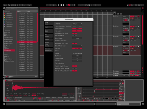 Dark Red Theme for Ableton 10 by Patrik Haas