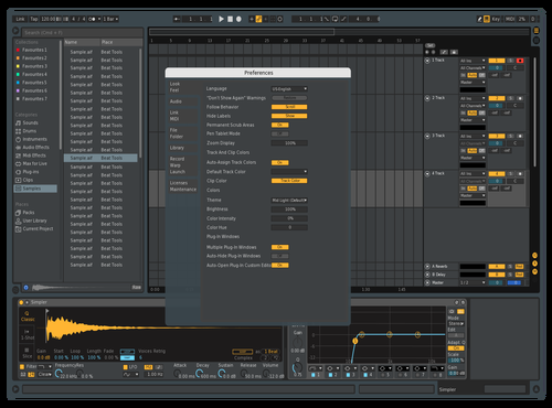 Blue Metal Theme for Ableton 10 by Barrnet