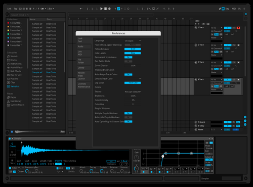Dark Cyan Theme for Ableton 10 by Ethan Williams