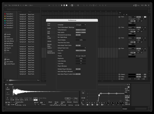 B/W Theme for Ableton 10 by Trivent