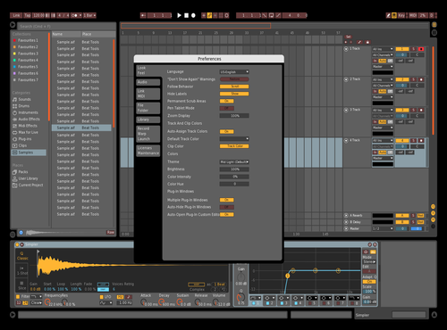 DarkPreferences Theme for Ableton 10 by IDGI