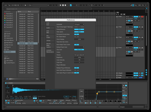 Bluu Theme for Ableton 10 by Tetrik