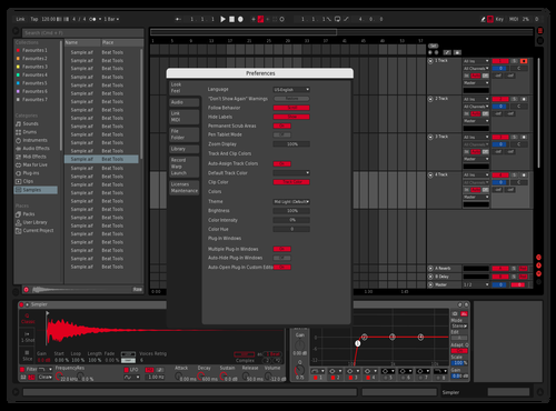 Red Theme for Ableton 10 by jouv