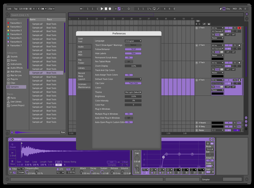 Slightly purple Theme for Ableton 10 by jalen