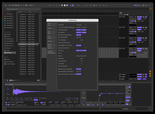 PURPLE LAMBO Theme for Ableton 10 by Kozmoz