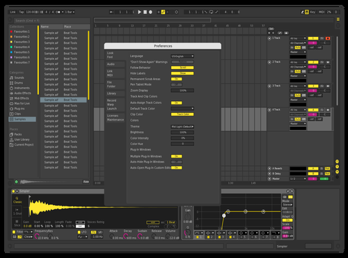 Yewlow Theme for Ableton 10 by Teddy