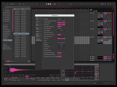 Dark Pink Theme for Ableton 10 by Paul Matthew