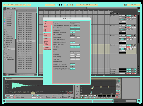 Backpack Theme for Ableton 10 by Ryan Meeker