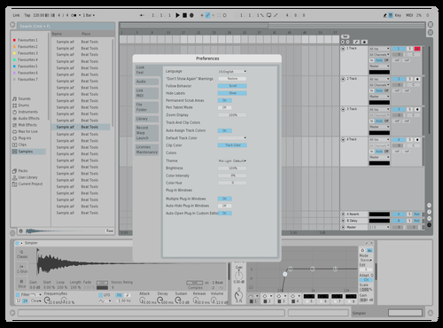 Dihonkson Light Blue - version 1 Theme for Ableton 10 by Dihonkson