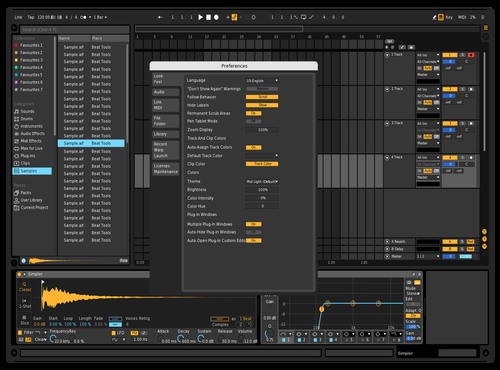 Dark Easy Theme for Ableton 10 by 3E