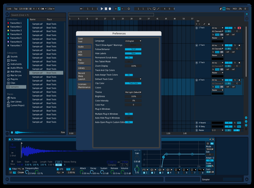 Blueblue Theme for Ableton 10 by Bob Saggot