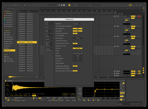 Yellow CRÜPO Theme for Ableton 10 by otto