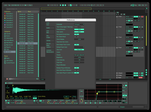 Mint Mix Theme for Ableton 10 by MAVIC