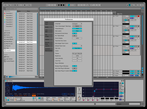 9 Blue Theme for Ableton 10 by mohamate