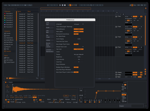 X2019 Orange (Lighter Text) Theme for Ableton 10 by freshhank