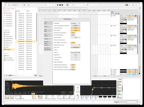 White Pale Gold Theme for Ableton 10 by John