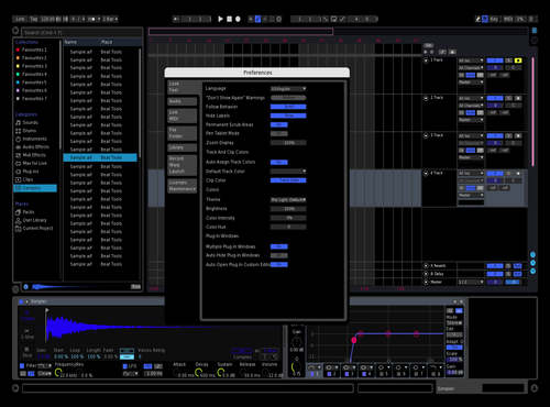 Retro Dark Blue Theme for Ableton 10 by enas