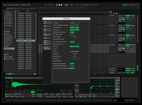SPOTIFY Dark Theme for Ableton 10 by Vapur