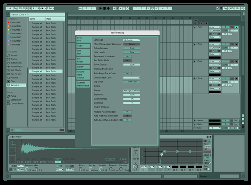 Llund Greenery Theme for Ableton 10 by Llundmusic