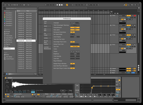 Mid dark ghost 33 Theme for Ableton 10 by studiopolyphonic