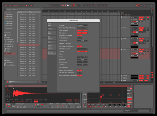 Red_mid_dark Theme for Ableton 10 by Pter