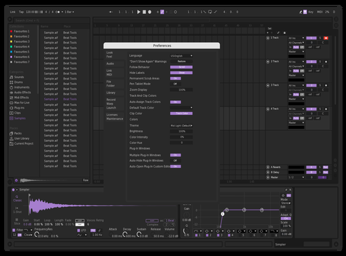 FuonDark Theme for Ableton 10 by fuon