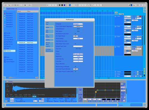 Blue Theme for Ableton 10 by Sem4