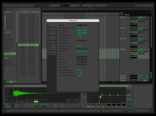 Recon_Dark_Green Theme for Ableton 10 by Edd