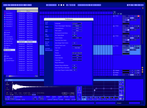 Cobalt Theme for Ableton 10 by digitalshawty
