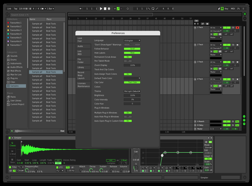 Dark green Theme for Ableton 10 by zteen_