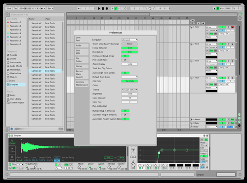 Light wih Green 2 Theme for Ableton 10 by BESH