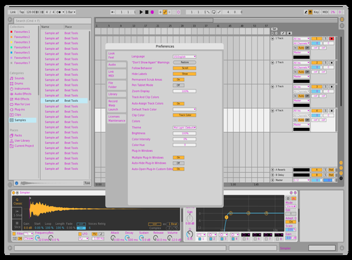Pink Text Theme for Ableton 10 by Ableton Suite