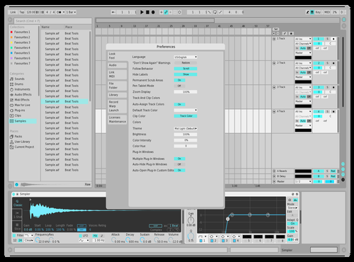 Remaster lightblu Theme for Ableton 10 by vroom