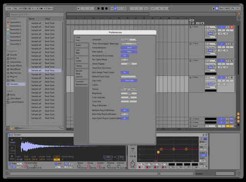 Midlight Theme for Ableton 10 by BLESSKO