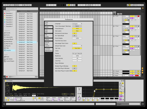 Concept Theme for Ableton 10 by Gridzone