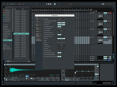 Teal Metal Theme for Ableton 10 by PHANTASM