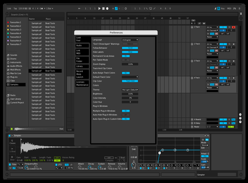 Blue Pro [Ali Bhtty] Theme for Ableton 10 by Daniel