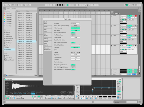 Minty blue Theme for Ableton 10 by Savel1y