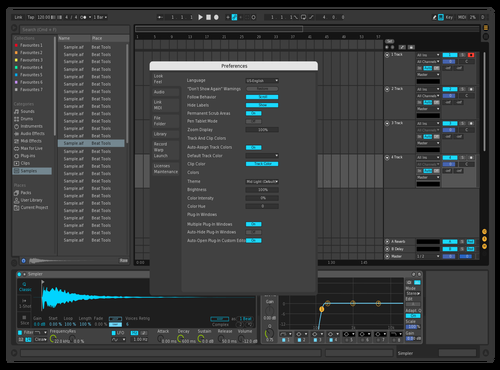 Dark Blue Theme for Ableton 10 by Luk3Music