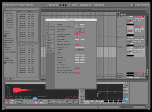 Slight changes Theme for Ableton 10 by Luis