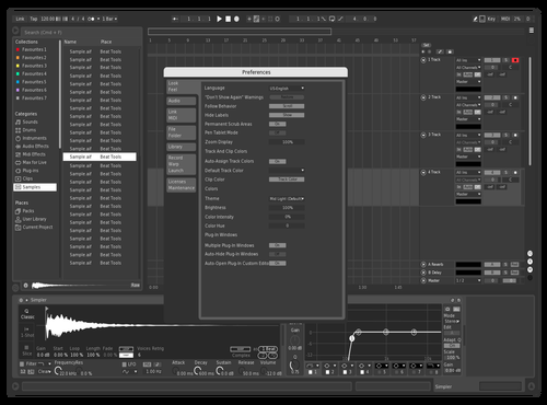 A1 White and Black Minimal Theme for Ableton 10 by jj