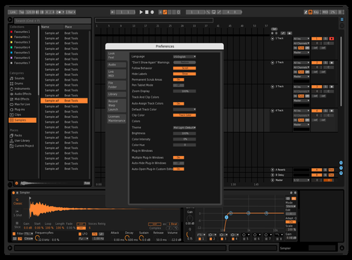 Darker Bitwig Theme for Ableton 10 by Emir
