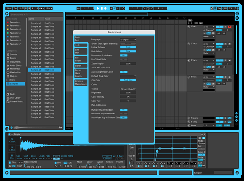 Ice Logic X Theme for Ableton 10 by Timothy Moretti