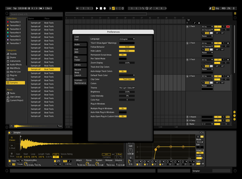Dark Theme for Ableton 10 by Fran