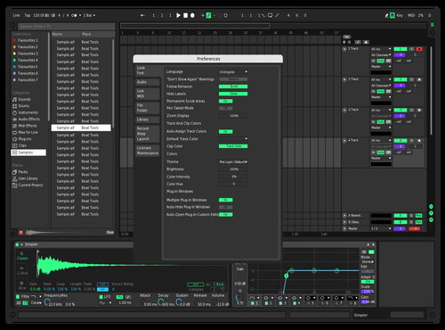 Electric Dark Theme for Ableton 10 by Dominic