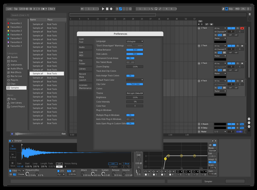 Bitwig-Blue Theme for Ableton 10 by Cyril G