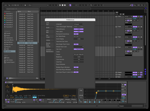 Dark af Theme for Ableton 10 by nico ceron