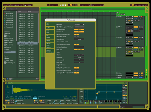 Green peace Theme for Ableton 10 by Misha
