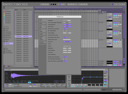 Better Purple Light Version Theme for Ableton 10 by Skylar Kobren