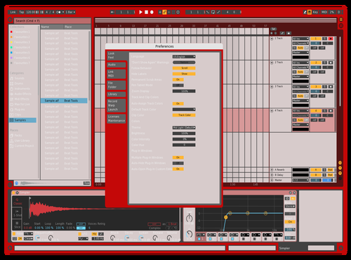 Red Theme for Ableton 10 by John Eason